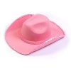 Pink Sequin Cowboy Hat Adult